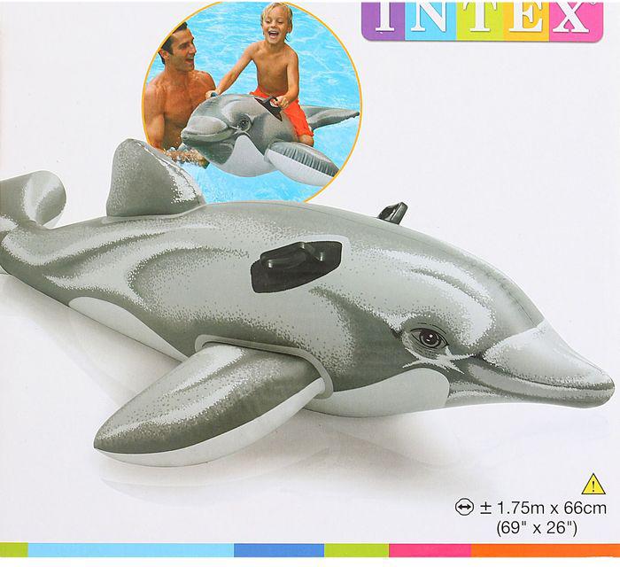 Дельфин надувной 175*66см от 3 лет  58535 - 1