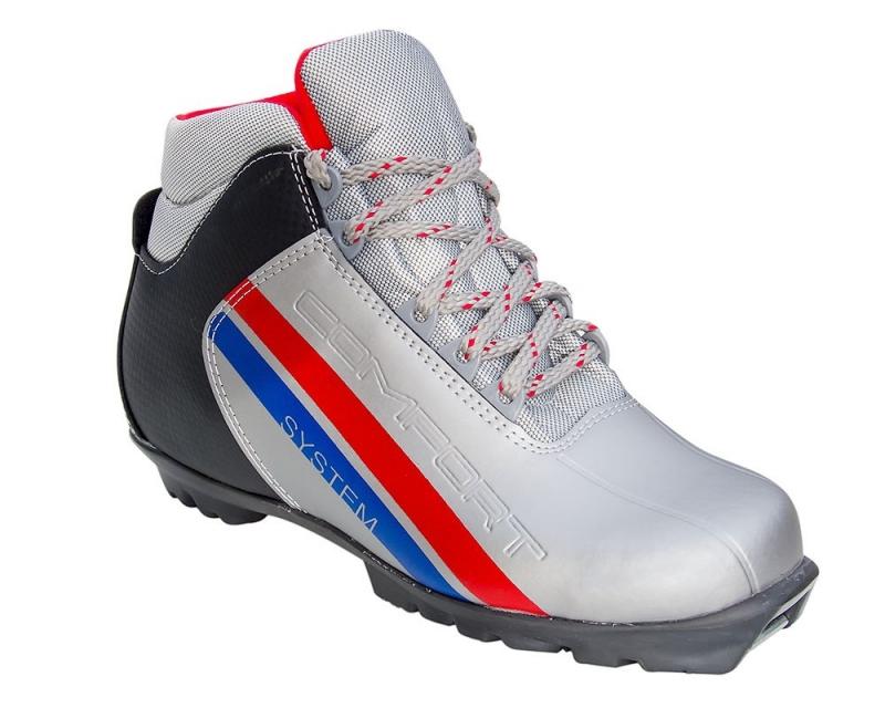 NNN MXN SYSTEM Comfort Ботинки лыжные: серебро/черный - 1