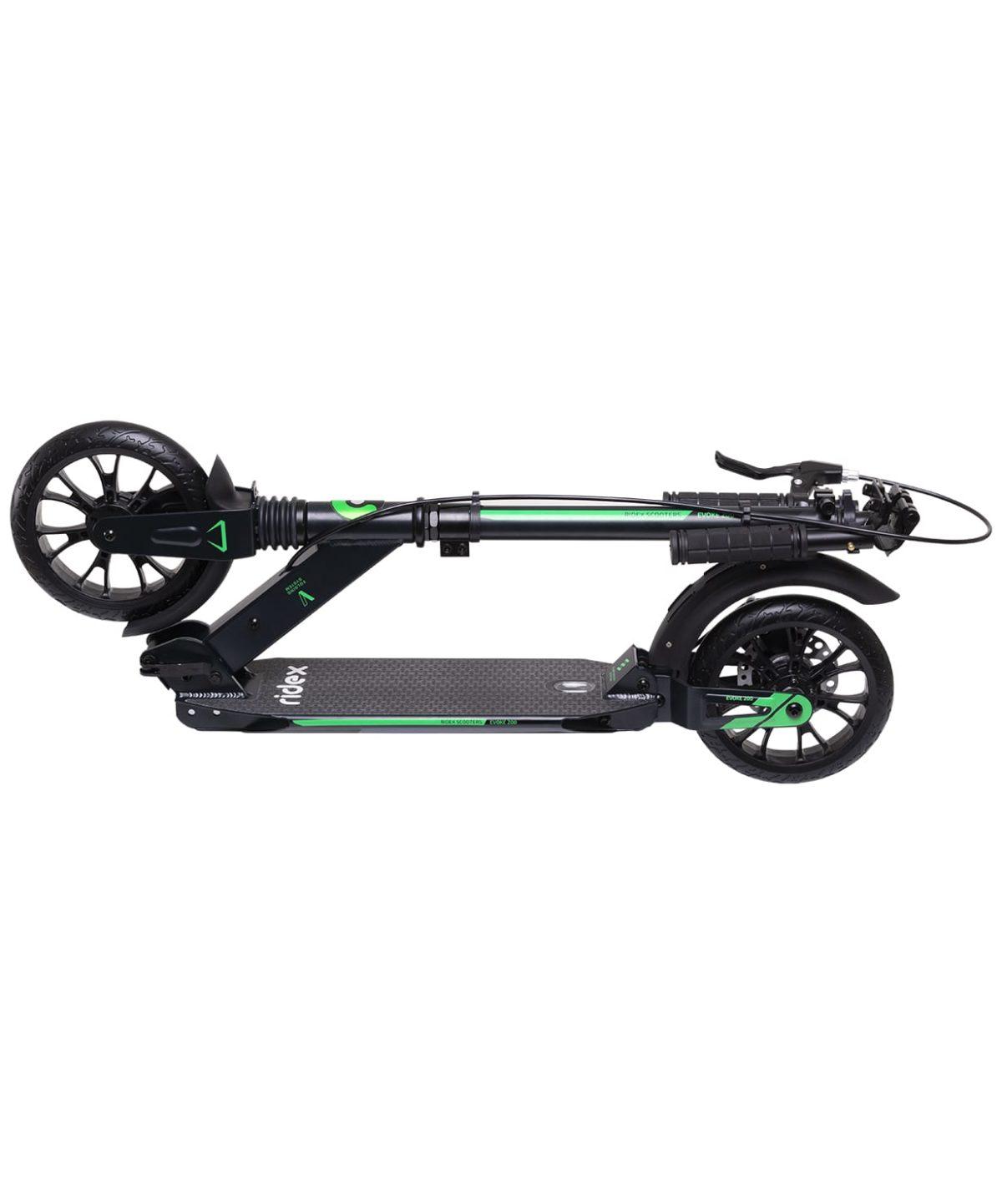 RIDEX Evoke Самокат 2-колесный с дисковым тормозом 200 мм  Evoke: зелёный - 6