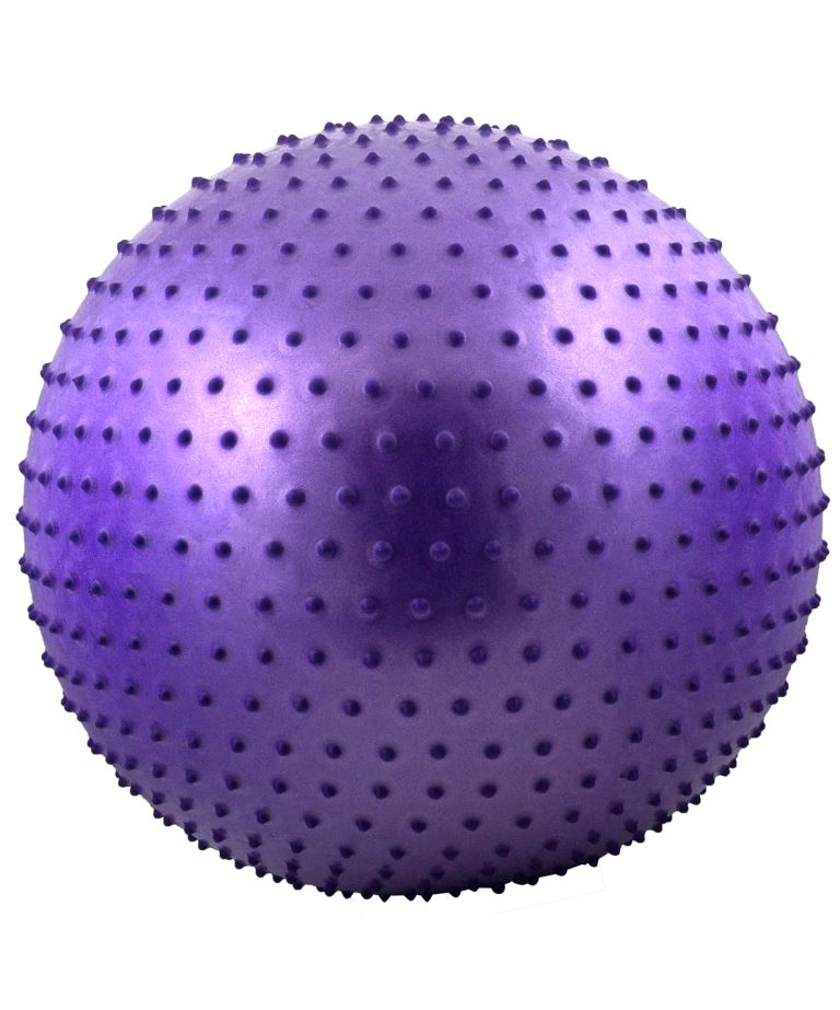 STARFIT Мяч гимнастический масажный 65см GB-301 : фиолетовый - 1