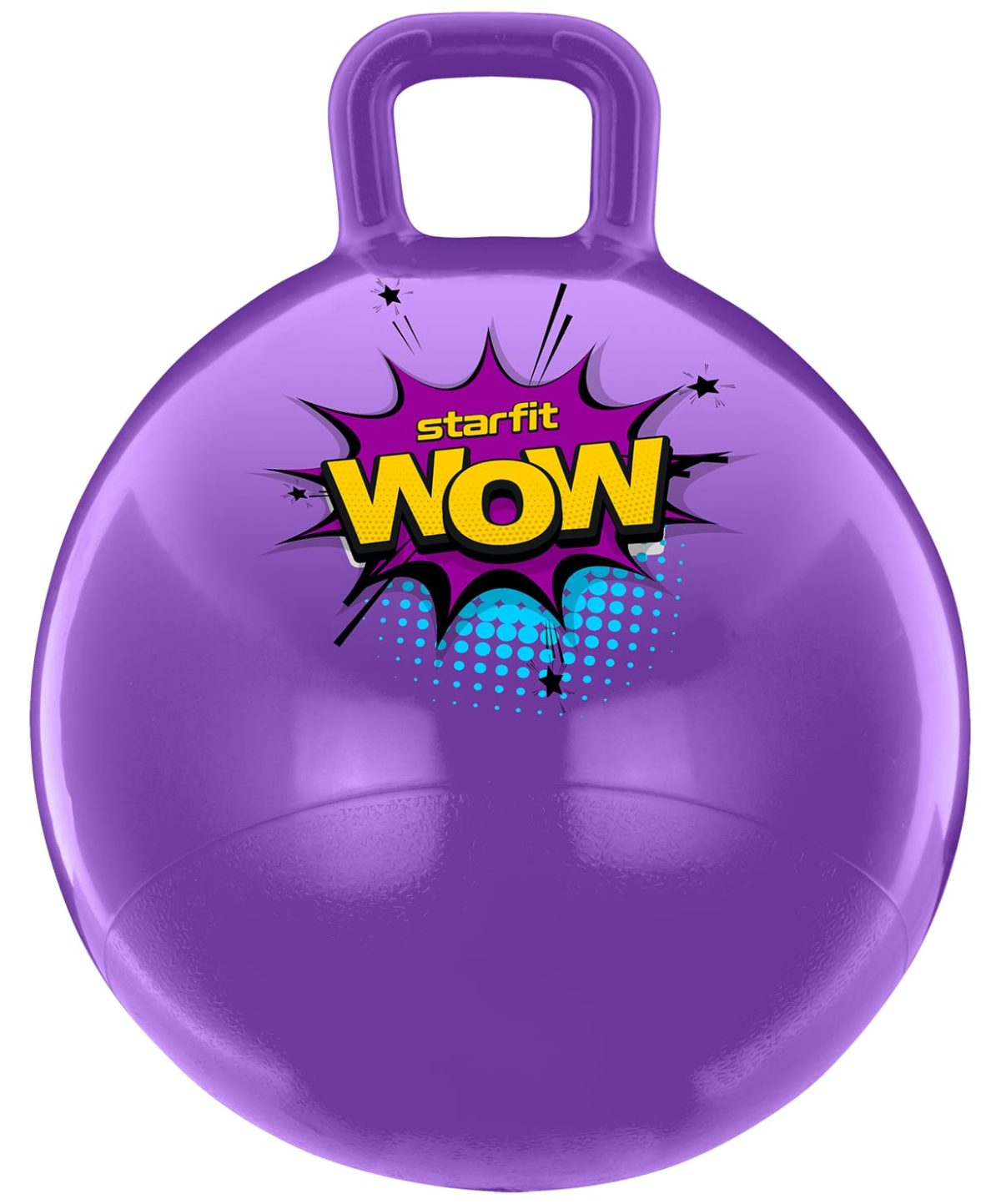 STARFIT WOW Мяч попрыгун с ручкой 55 см.  GB-0402: фиолетовый - 1
