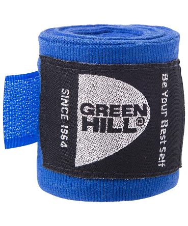 GREEN HILL Бинт боксерский 2,5м  эластик BP-6232c: синий - 1