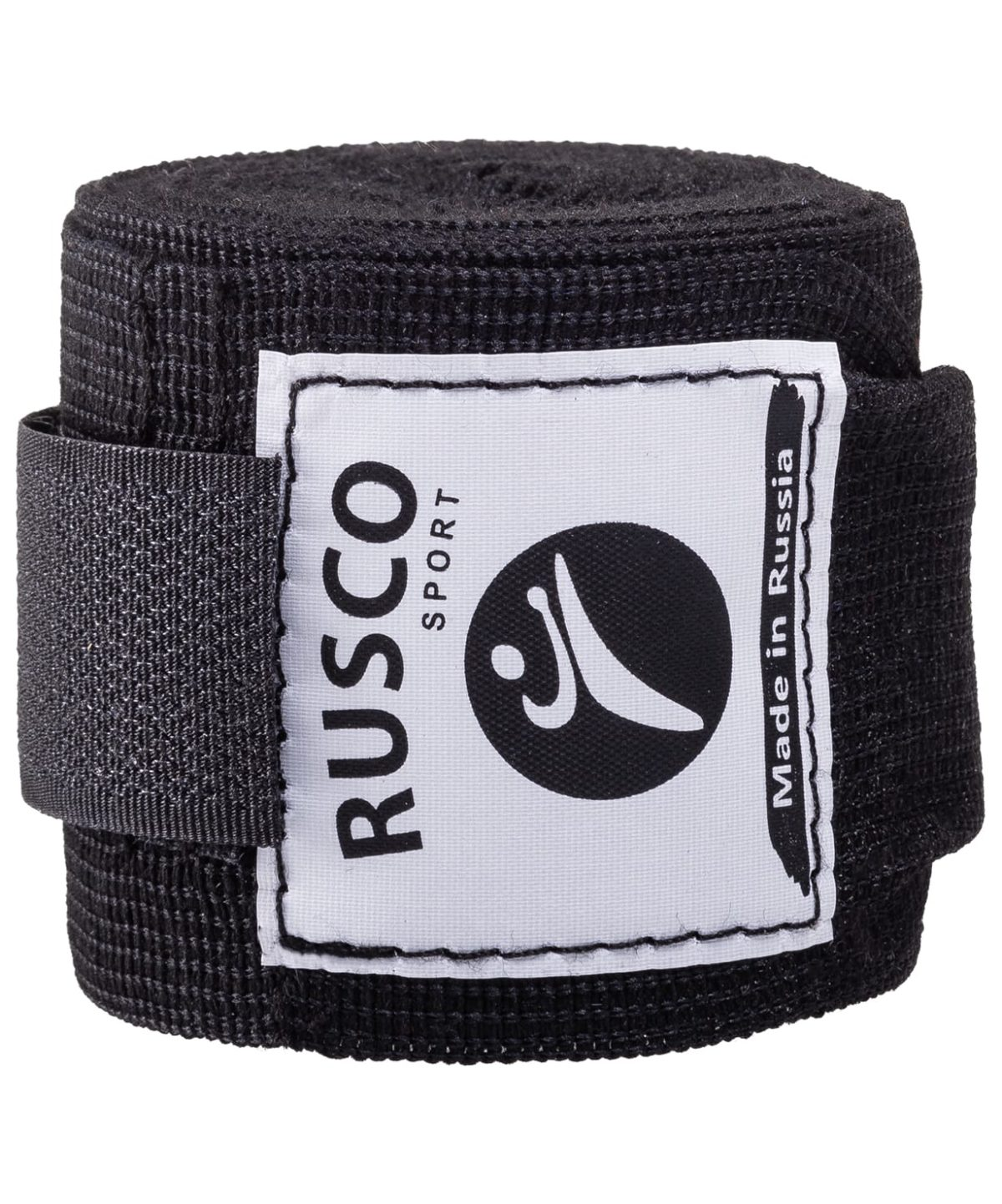 RUSCO Бинт боксерский, 2,5м, хлопок  126: чёрный - 2