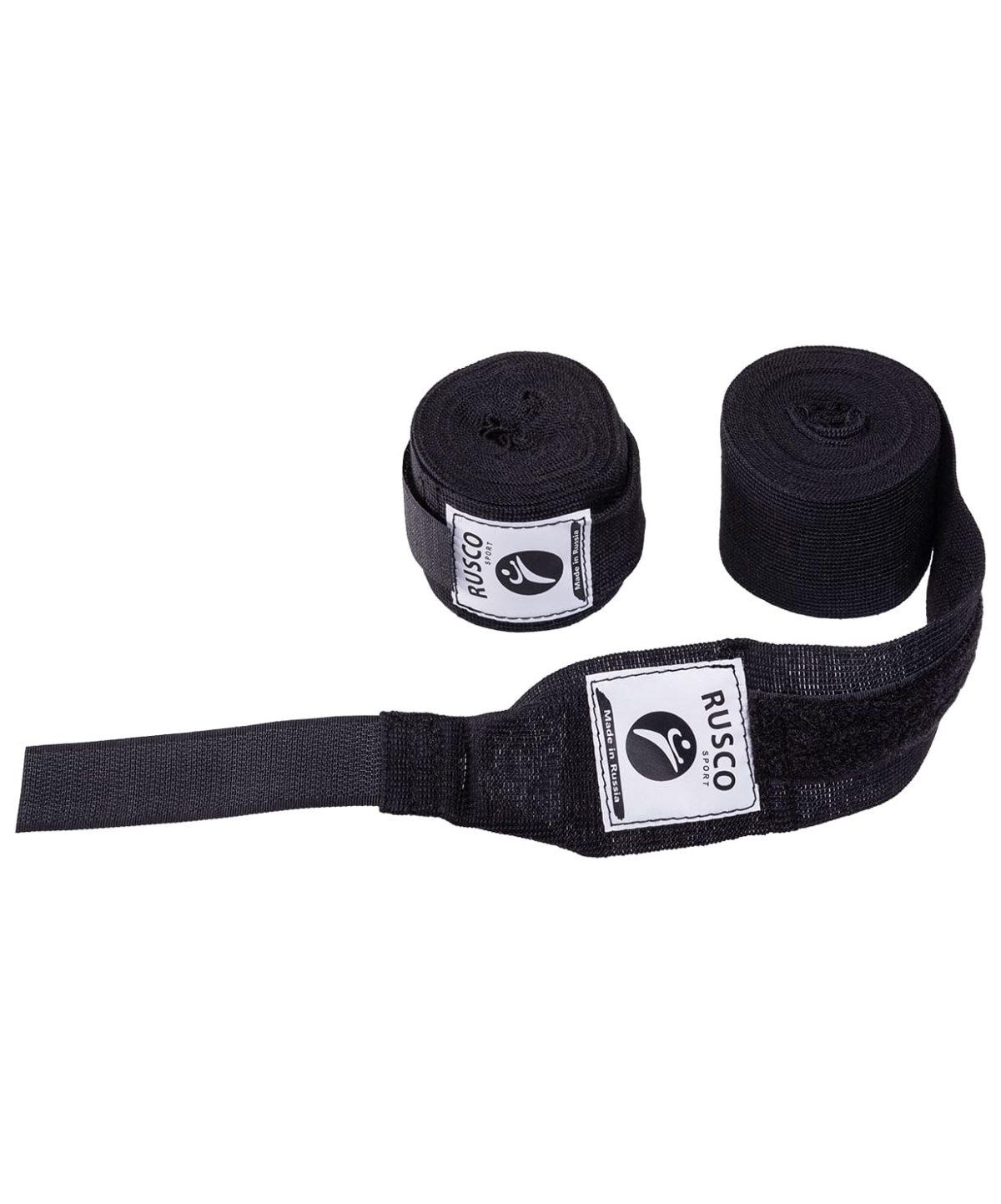 RUSCO Бинт боксерский, 3,5м, хлопок  126: чёрный - 1