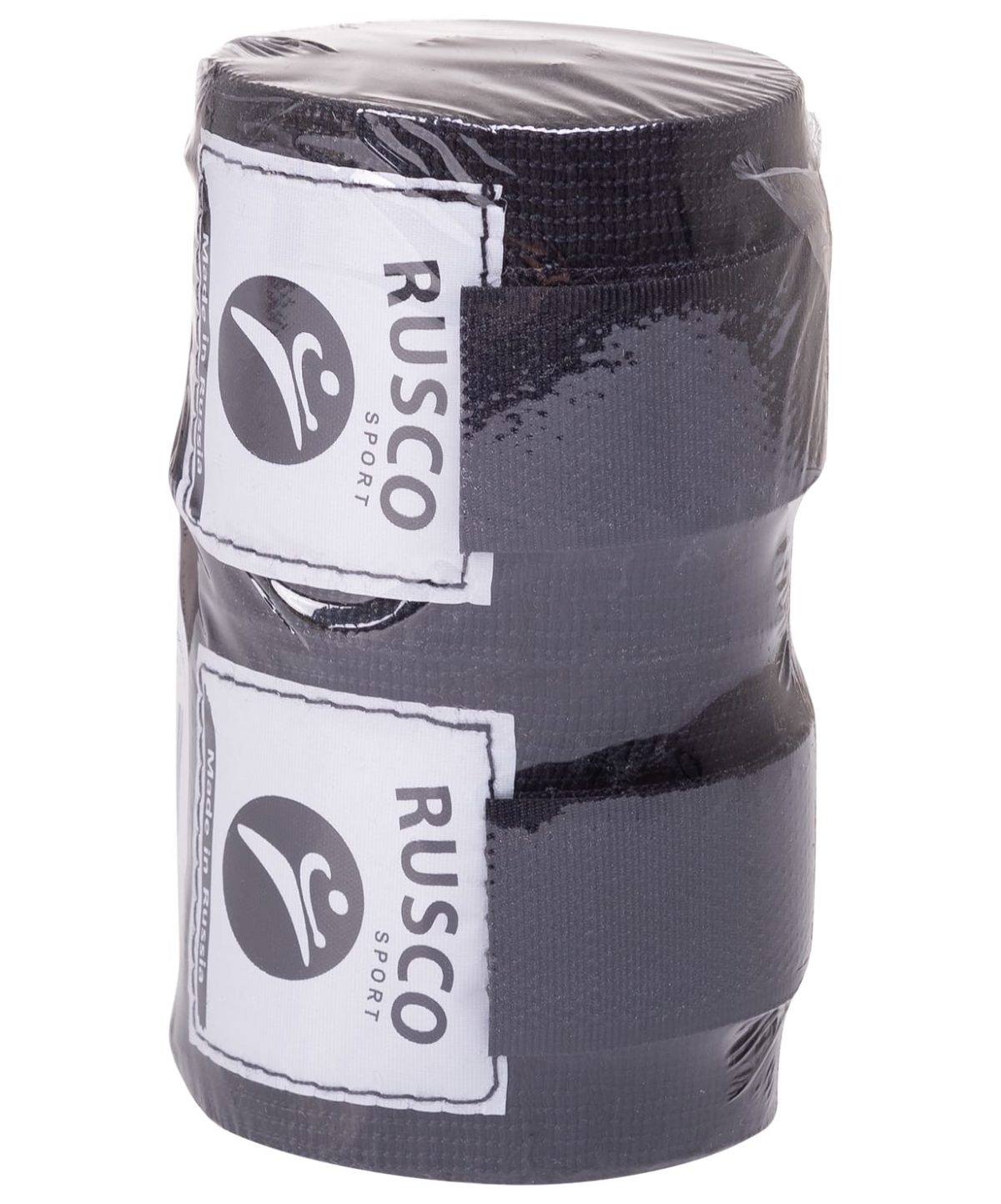 RUSCO Бинт боксерский, 3,5м, хлопок  126: чёрный - 2