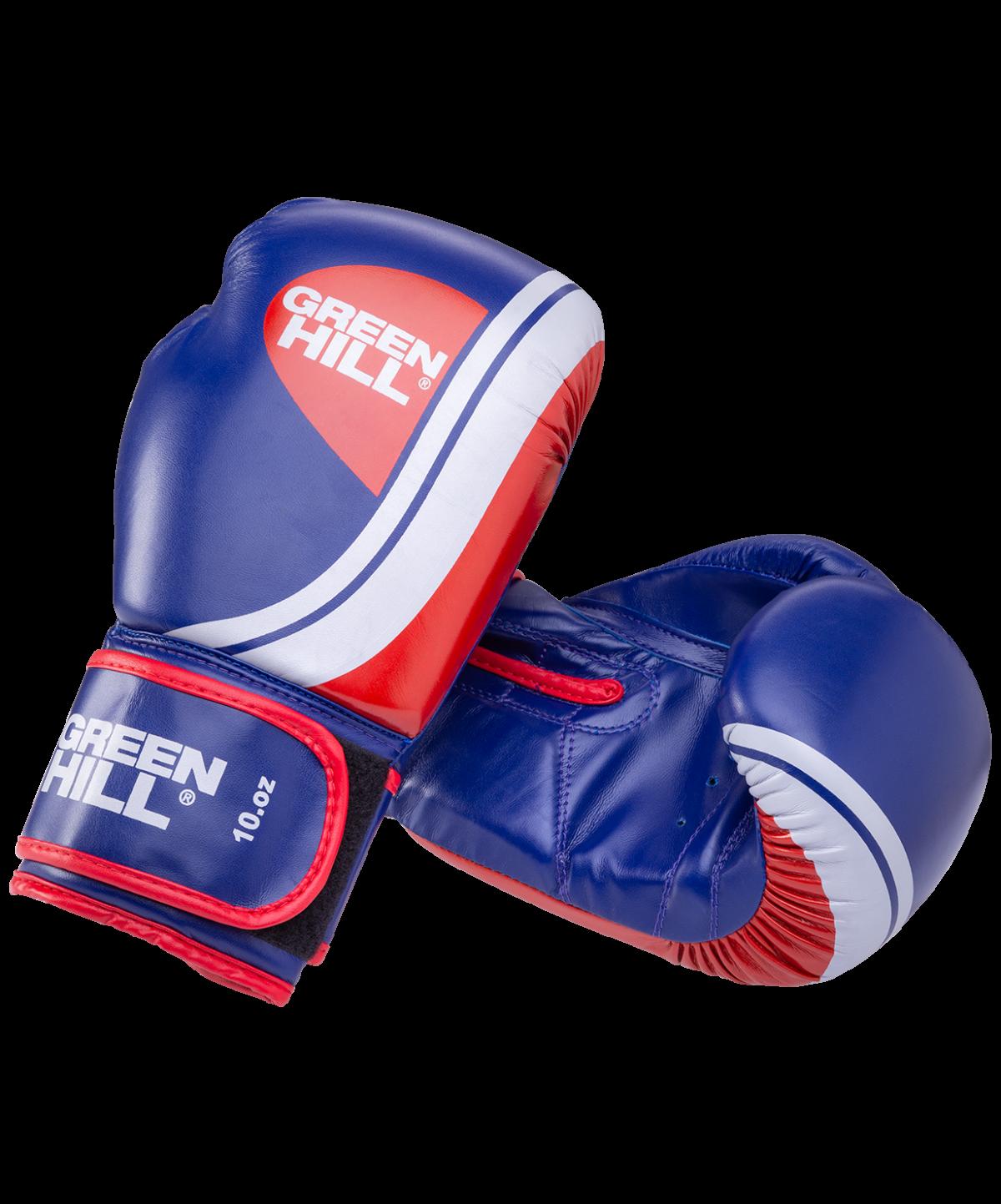 GREEN HILL Перчатки боксерские 10 oz Knockout  BGK-2266: синий - 1