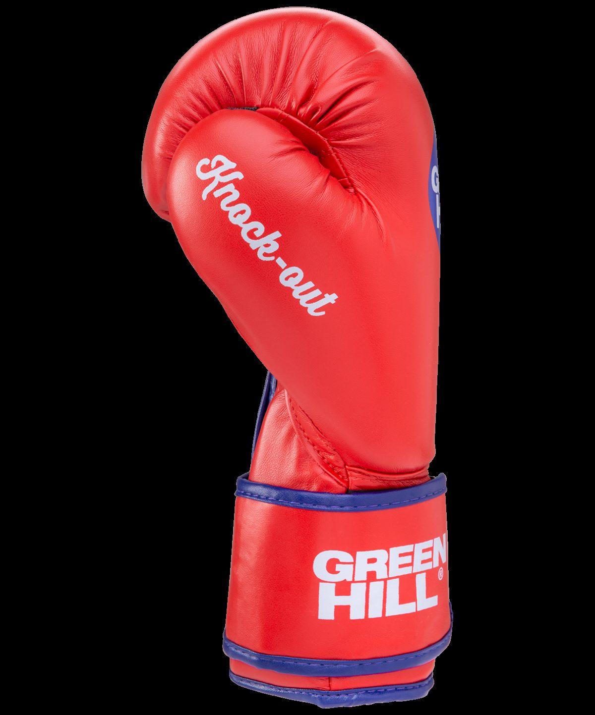 GREEN HILL Перчатки боксерские 10 oz Knockout  BGK-2266: красный - 2