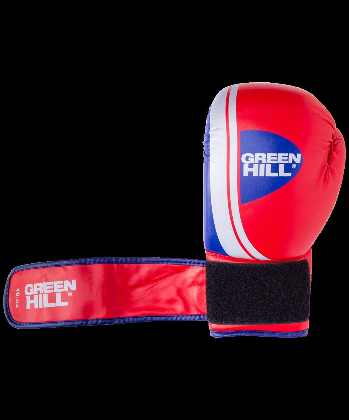 GREEN HILL Перчатки боксерские 10 oz Knockout  BGK-2266: красный - 4