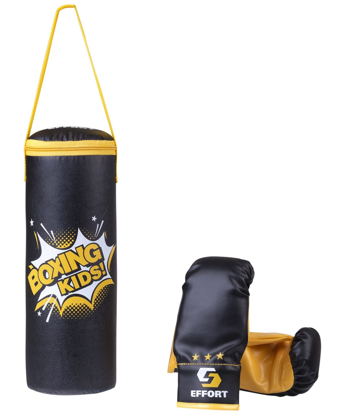EFFORT Набор для бокса, к/з, черный 5кг  E1455 - 1