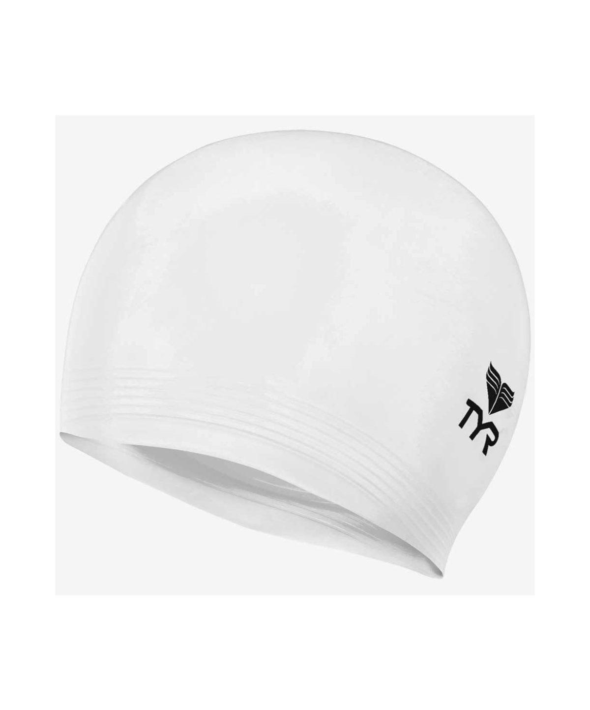 TYR Latex Swim Cap Шапочка для плавания латекс  LCL: белый - 1