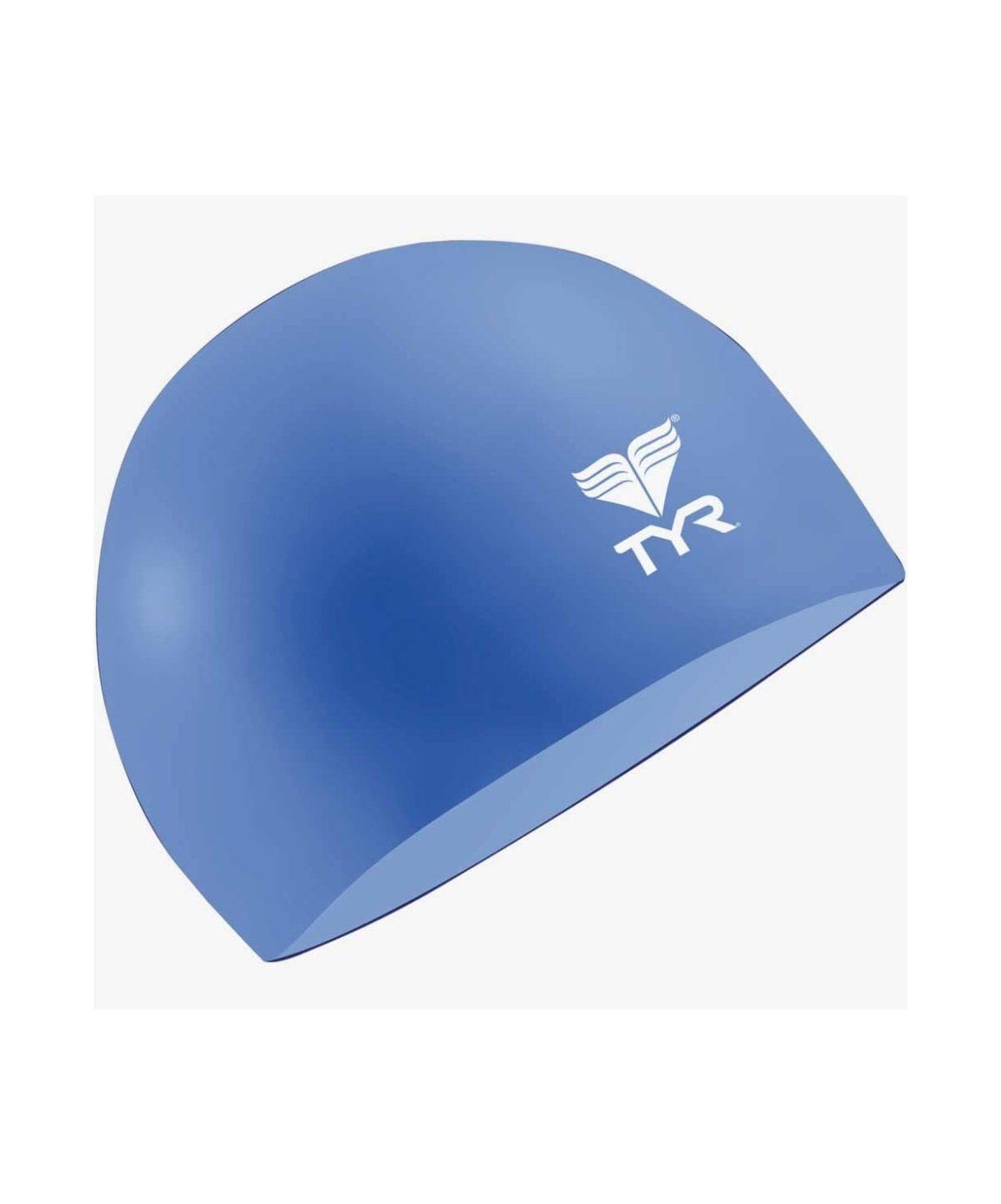TYR Latex Swim Cap Шапочка для плавания латекс  LCL: голубой - 1
