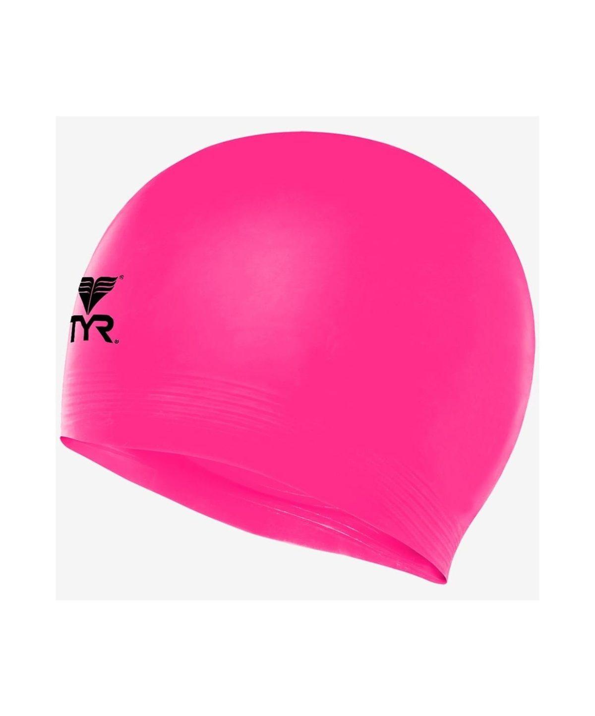 TYR Latex Swim Cap Шапочка для плавания латекс  LCL: розовый - 1