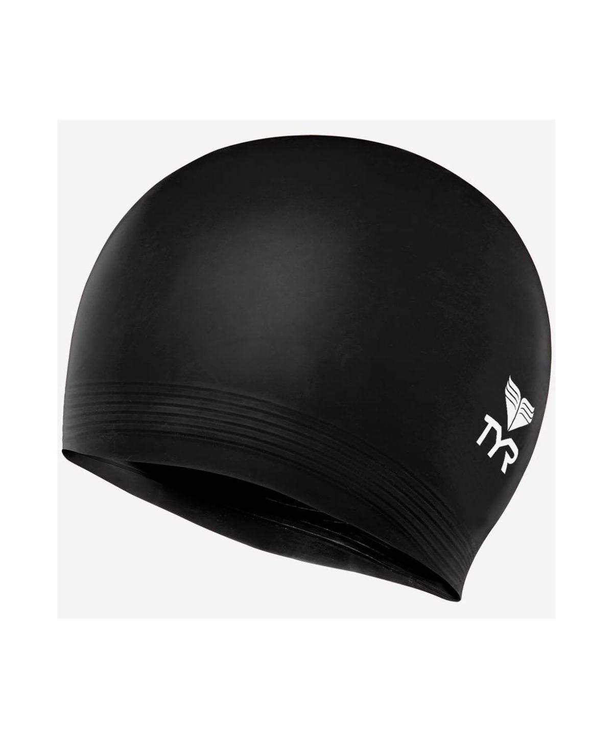 TYR Latex Swim Cap Шапочка для плавания латекс  LCL: чёрный - 1