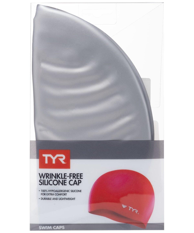 TYR Wrinkle Free Silicone Cap Шапочка для плавания силикон  LCS: серебристый - 2