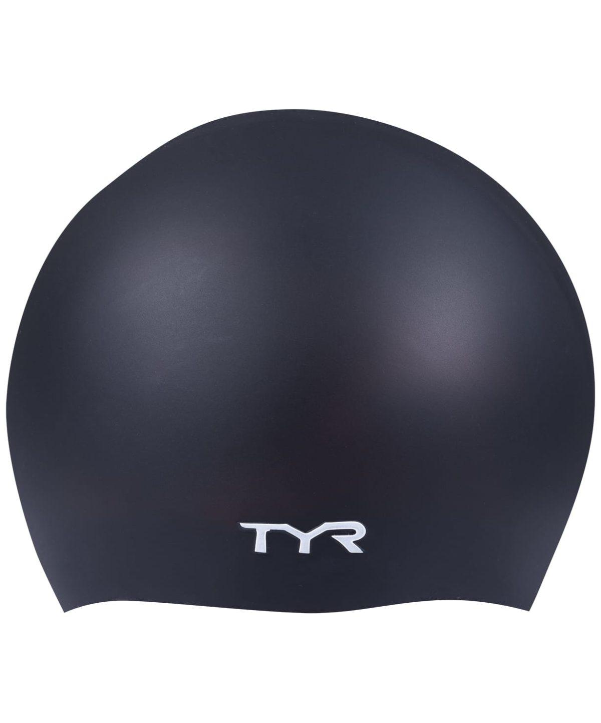 TYR Wrinkle Free Silicone Cap Шапочка для плавания силикон  LCS: чёрный - 1