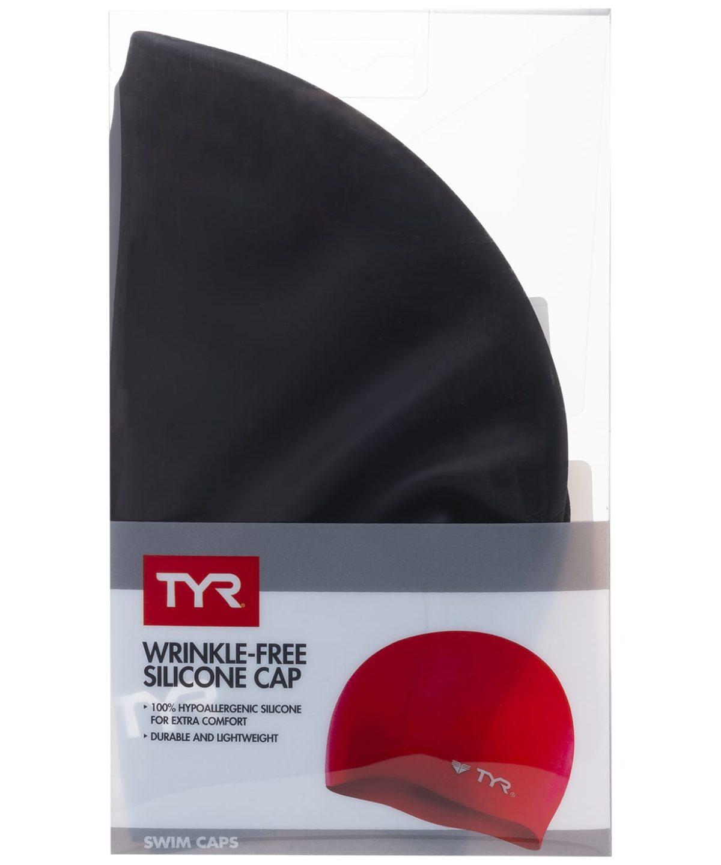TYR Wrinkle Free Silicone Cap Шапочка для плавания силикон  LCS: чёрный - 2