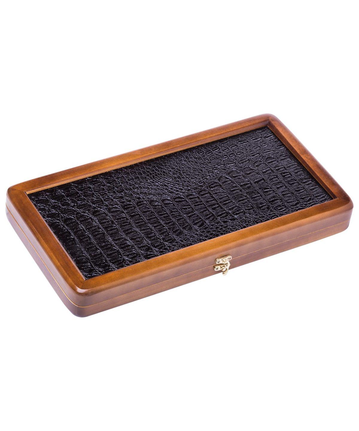 Нарды малые сувенирные, кожаные, в чехле  8425 - 2