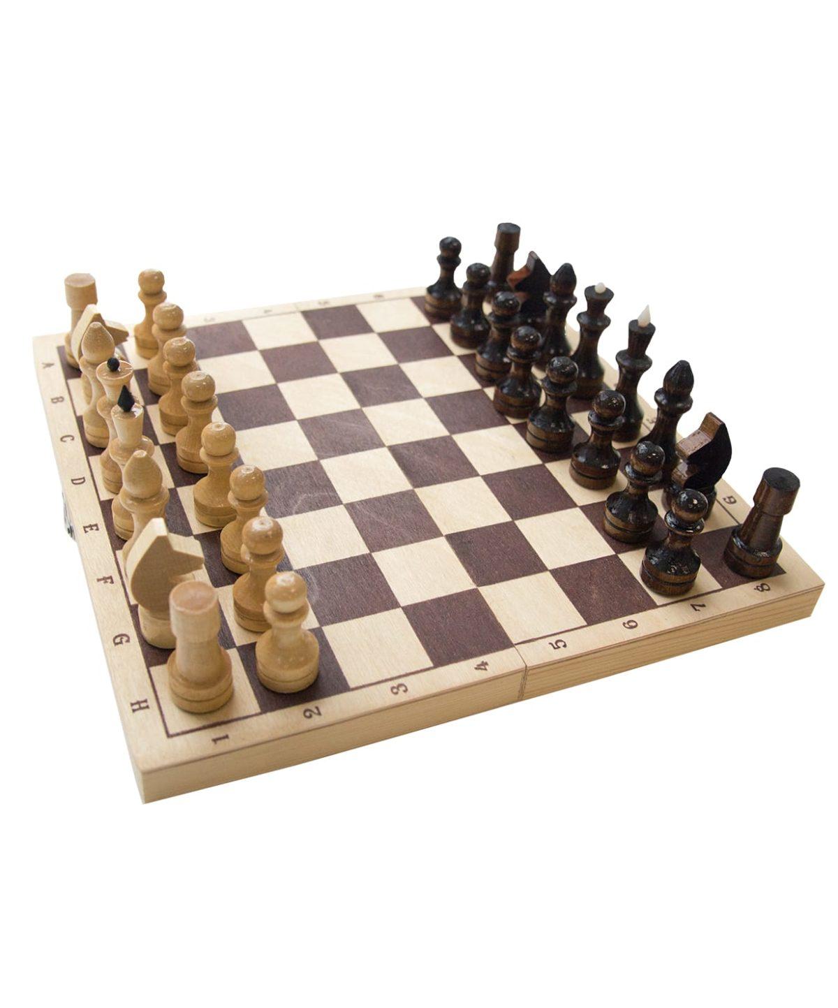 Шахматы обиходные, лакированные  2772 - 1