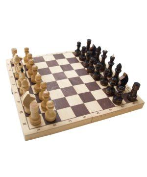 Шахматы обиходные, лакированные  2772 - 7