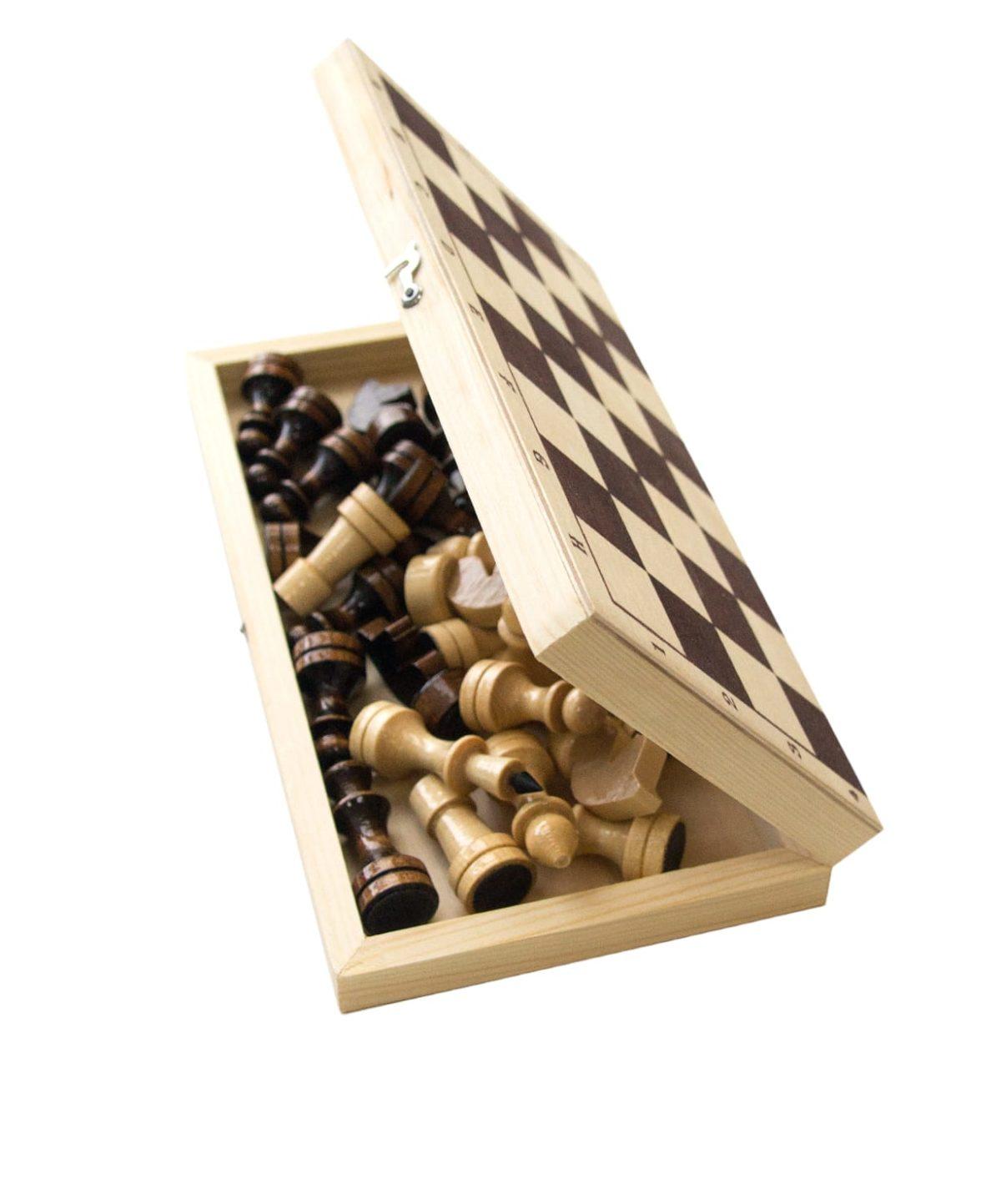 Шахматы обиходные, лакированные  2772 - 2