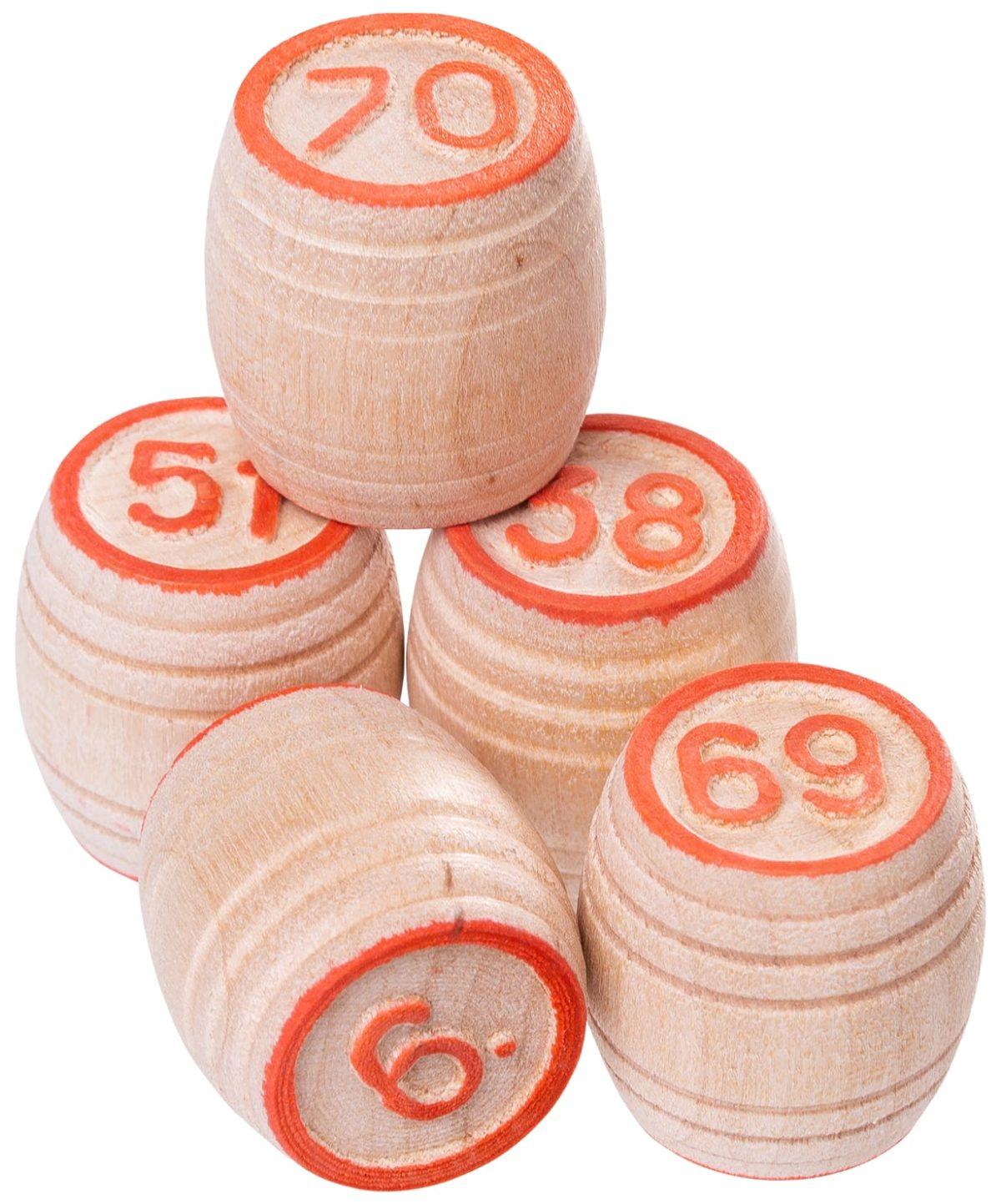 Лото бочонок деревянный, картонная коробка  004-07 - 2