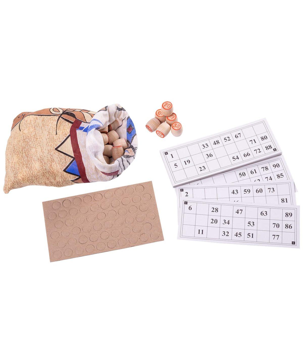 Лото бочонок деревянный, картонная коробка  004-07 - 3
