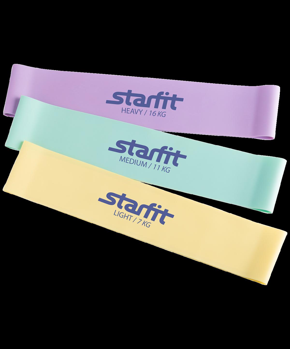 STARFIT Комплект мини-эспандеров, пастельный ES-203 - 1