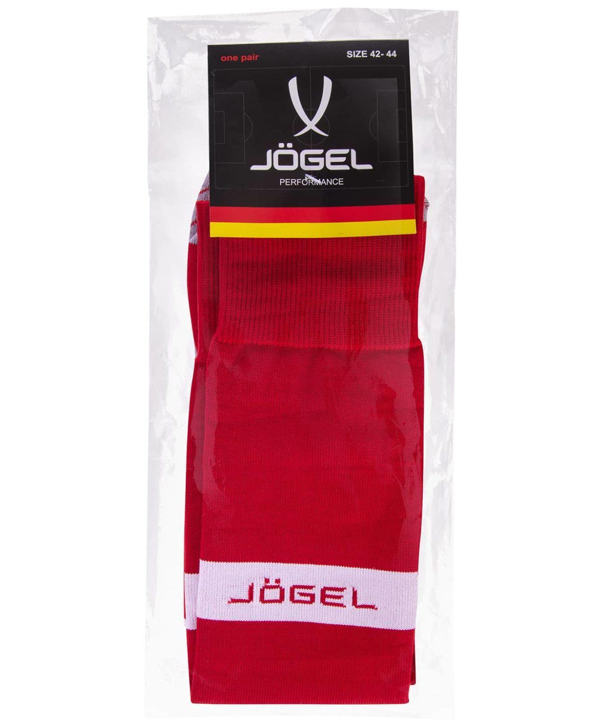 JOGEL Гетры футбольные, красный/белый  JA-003 - 3