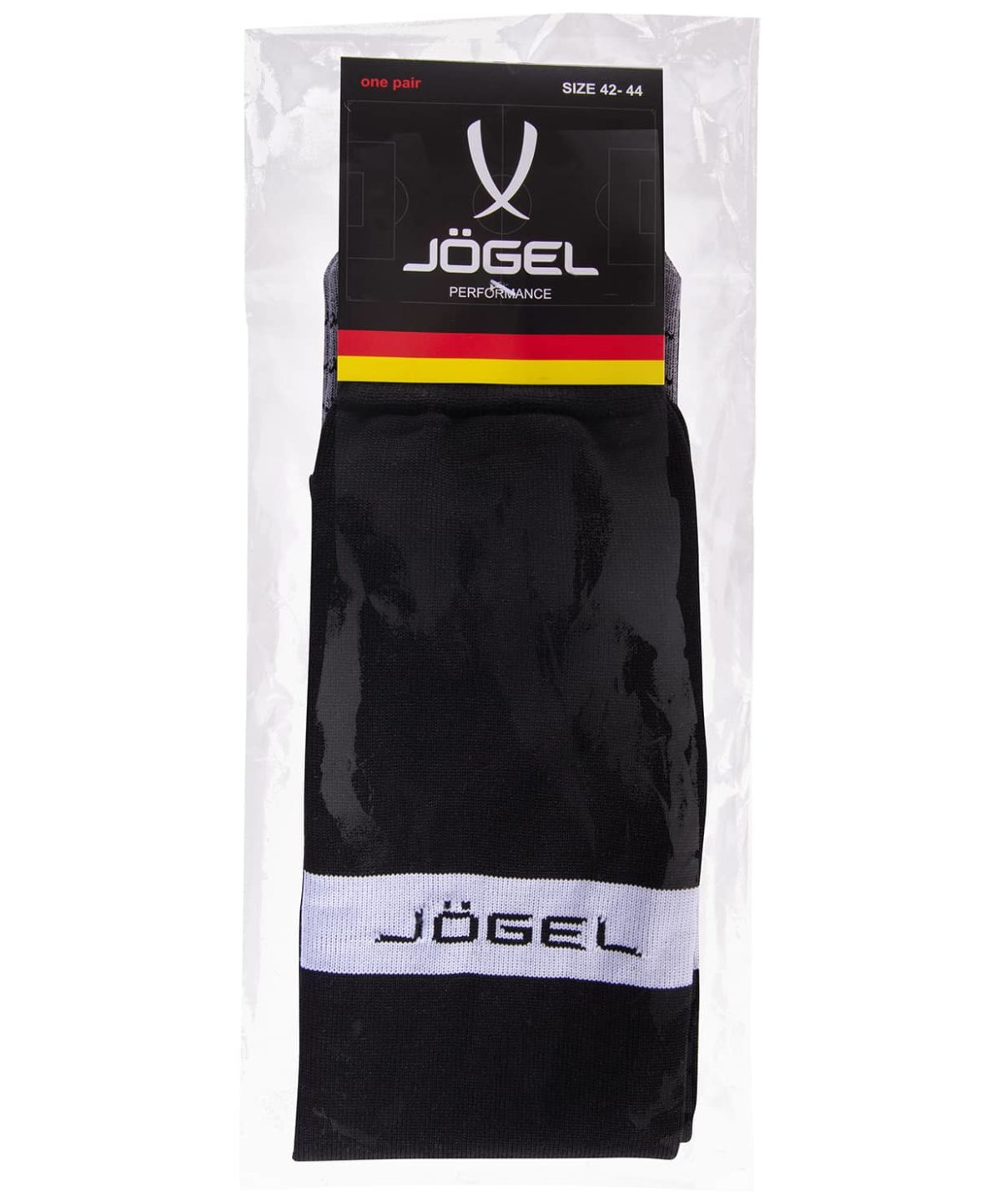 JOGEL Гетры футбольные, черный/белый  JA-003 - 3