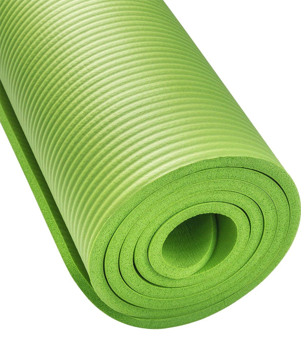 STARFIT Коврик для йоги FM-301 183х58х1,0 см: зелёный - 2