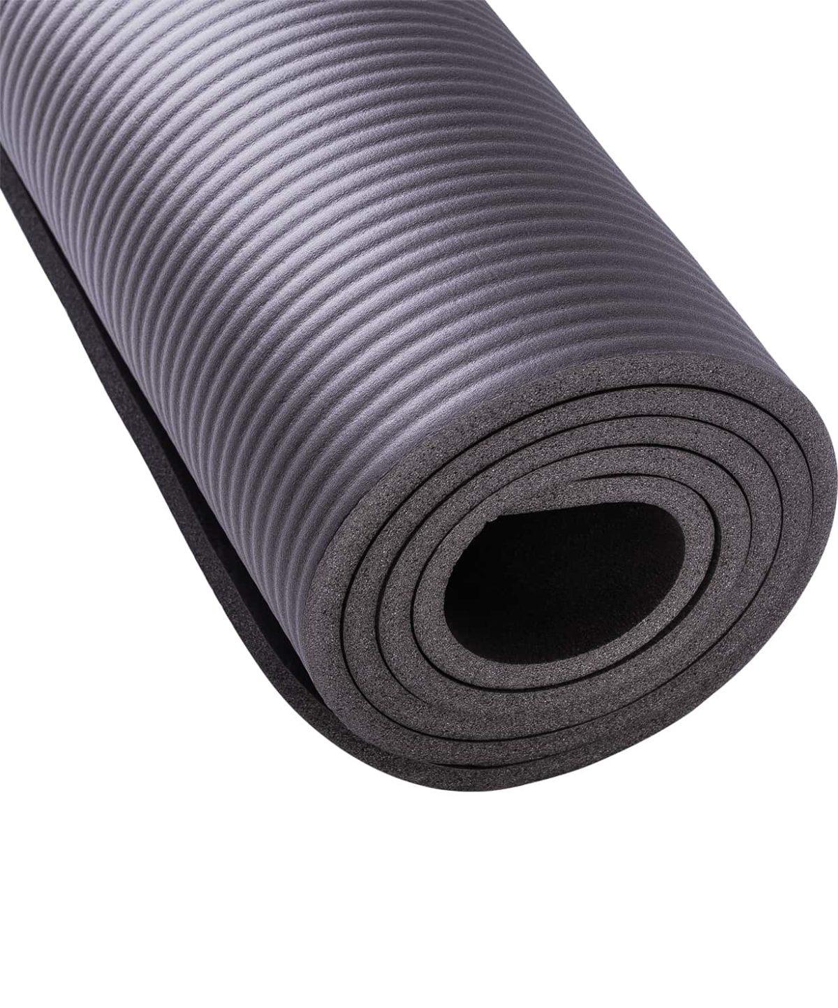STARFIT Коврик для йоги FM-301 183х58х1,0 см: серый - 3