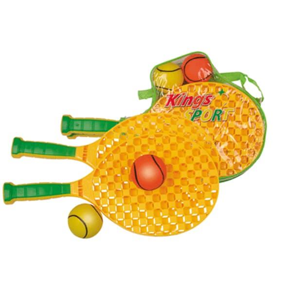 Набор ракеток для пляжного бадминтона+2 мягких мячика  10001 - 1