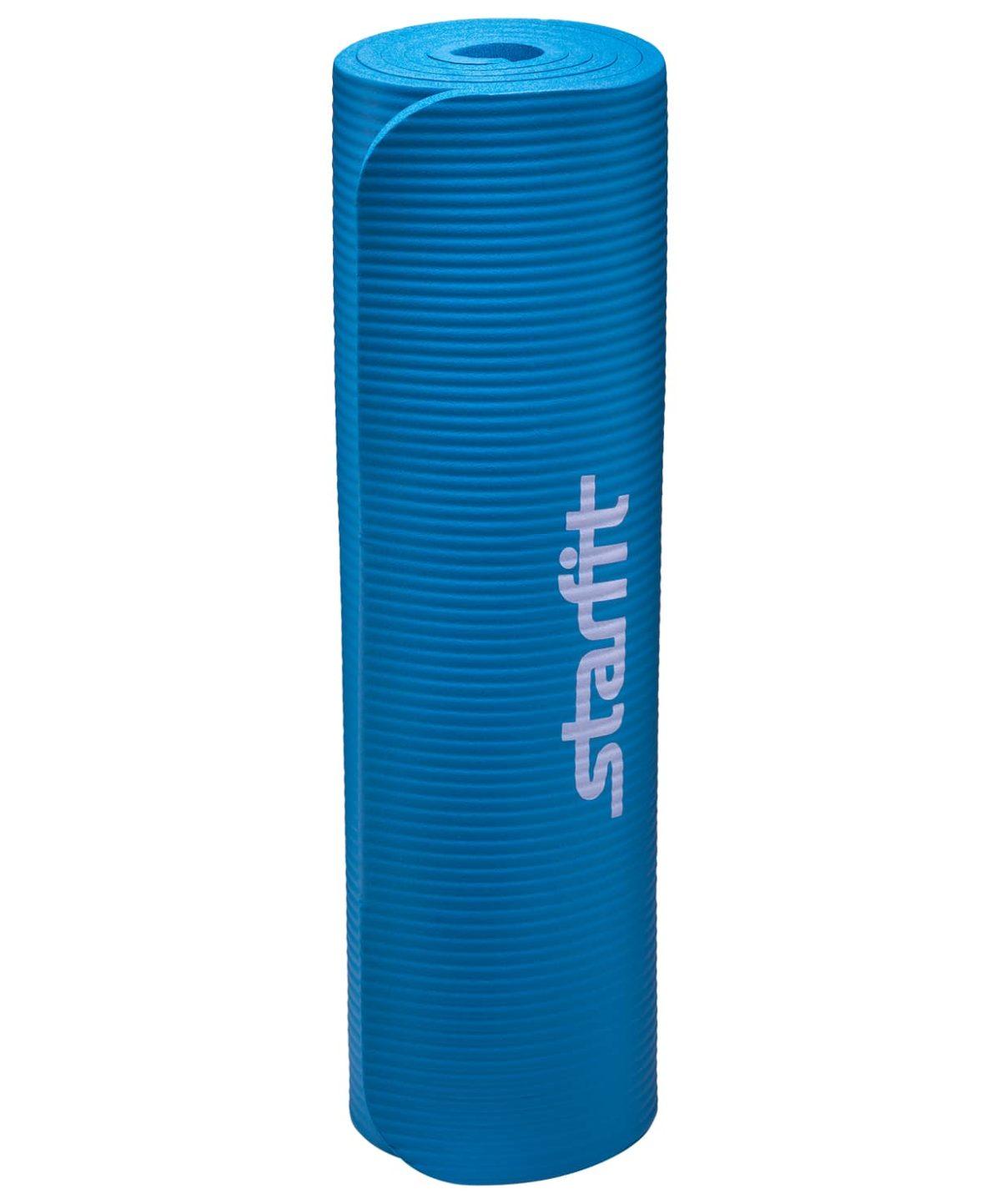 STARFIT Коврик для йоги FM-301 183x58x1,2 см: синий - 3