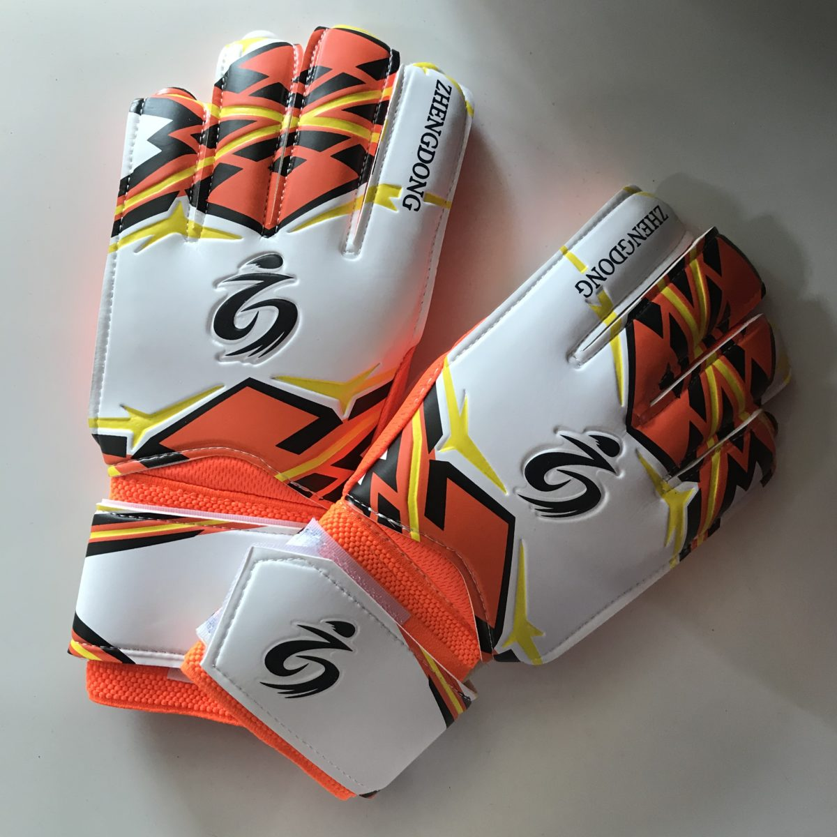 ZHENGDOONG перчатки вратарские  002: оранжевый - 1