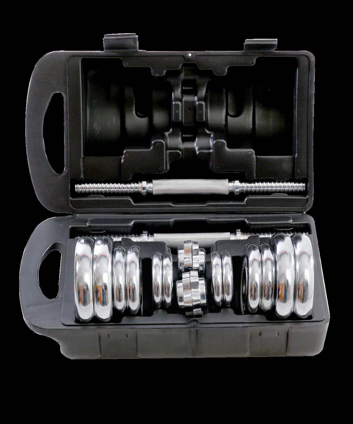 STARFIT Гантели хромированные разборные в чемодане 2 шт по 10 кг BB-501 - 2