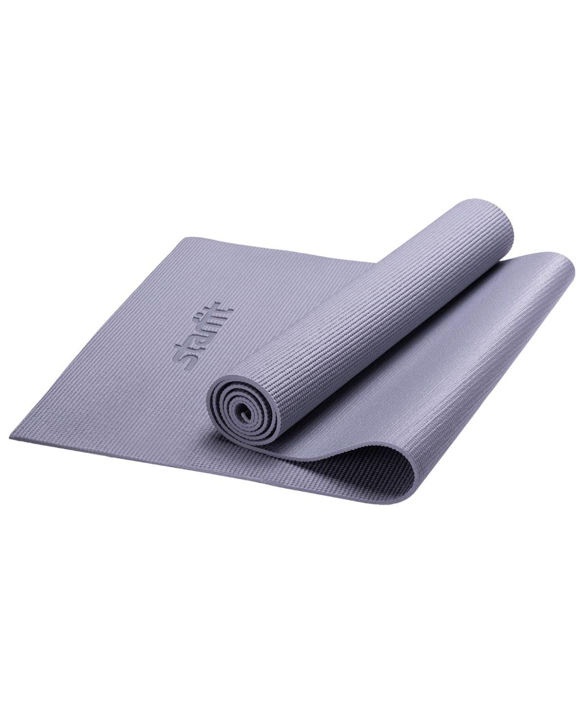 STARFIT Коврик для йоги FM-101 173x61x0,5см: серый - 1
