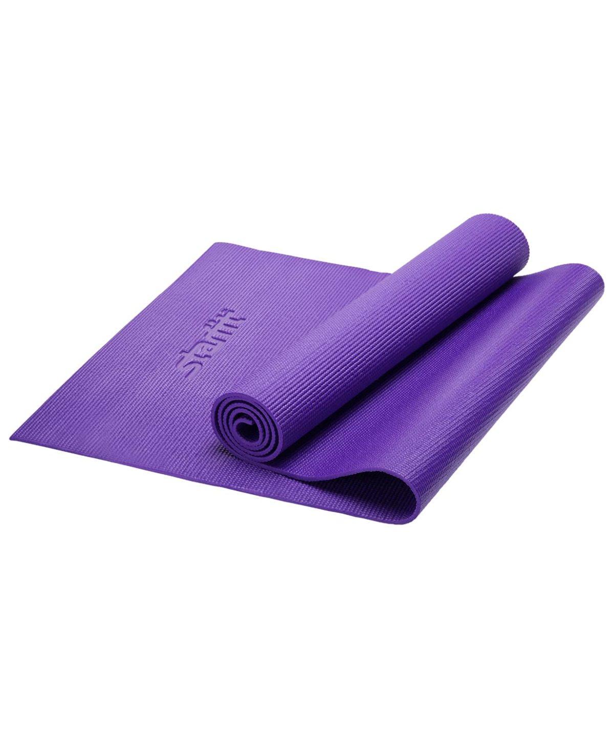 STARFIT Коврик для йоги FM-101 173х61х0,6 см: фиолетовый - 1