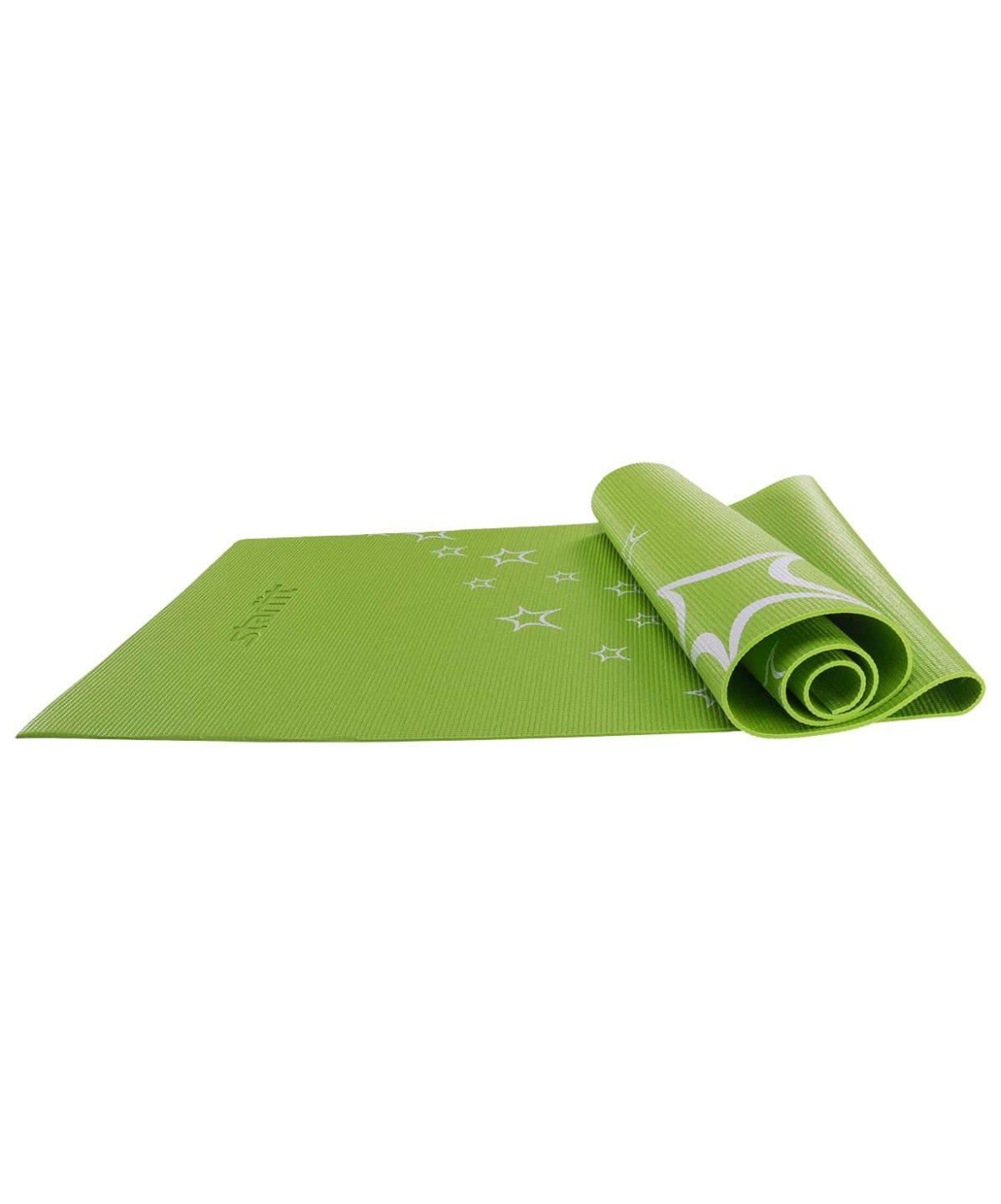 STARFIT Коврик для йоги с рисунком FM-102 173х61х0,5см: зелёный - 1