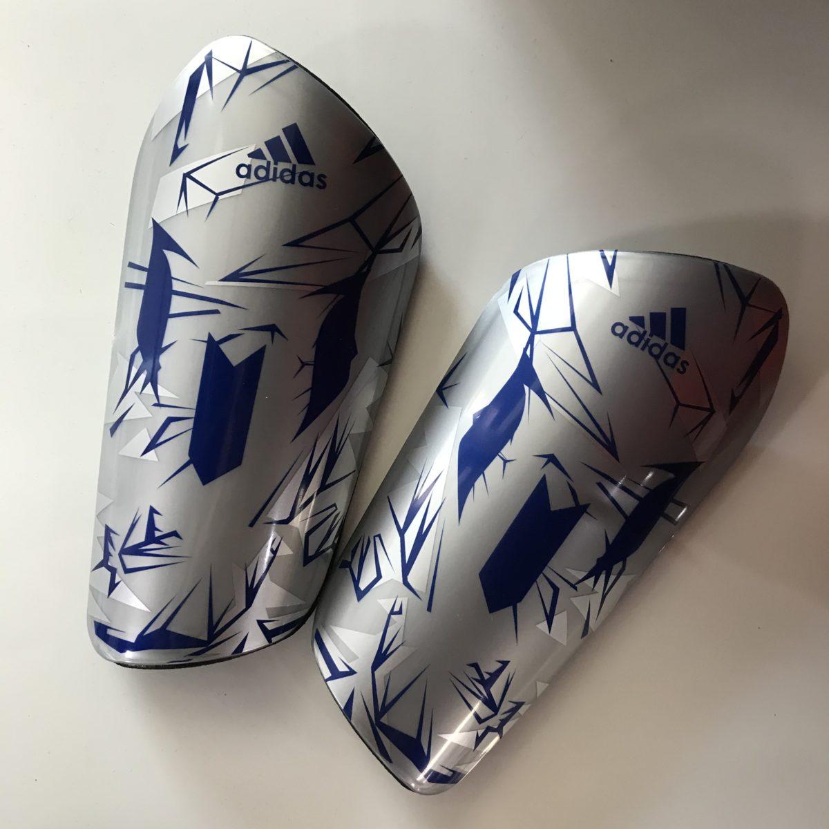 ADIDAS щитки: серый/синий - 1