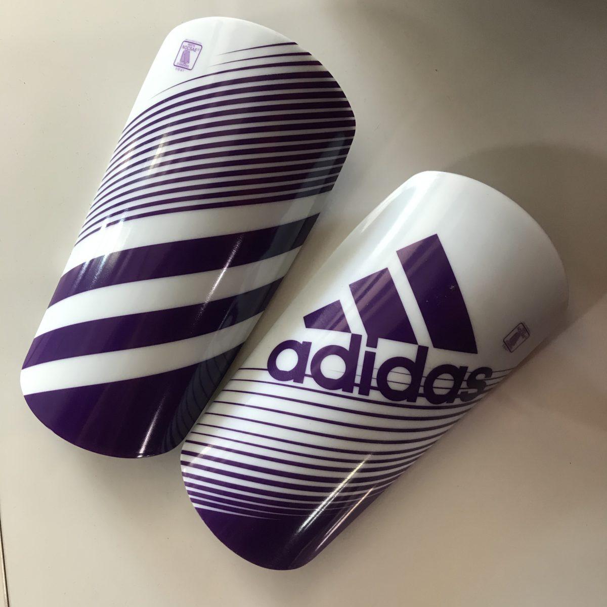 ADIDAS Щитки  Щ002: белый/фиолетовый - 1