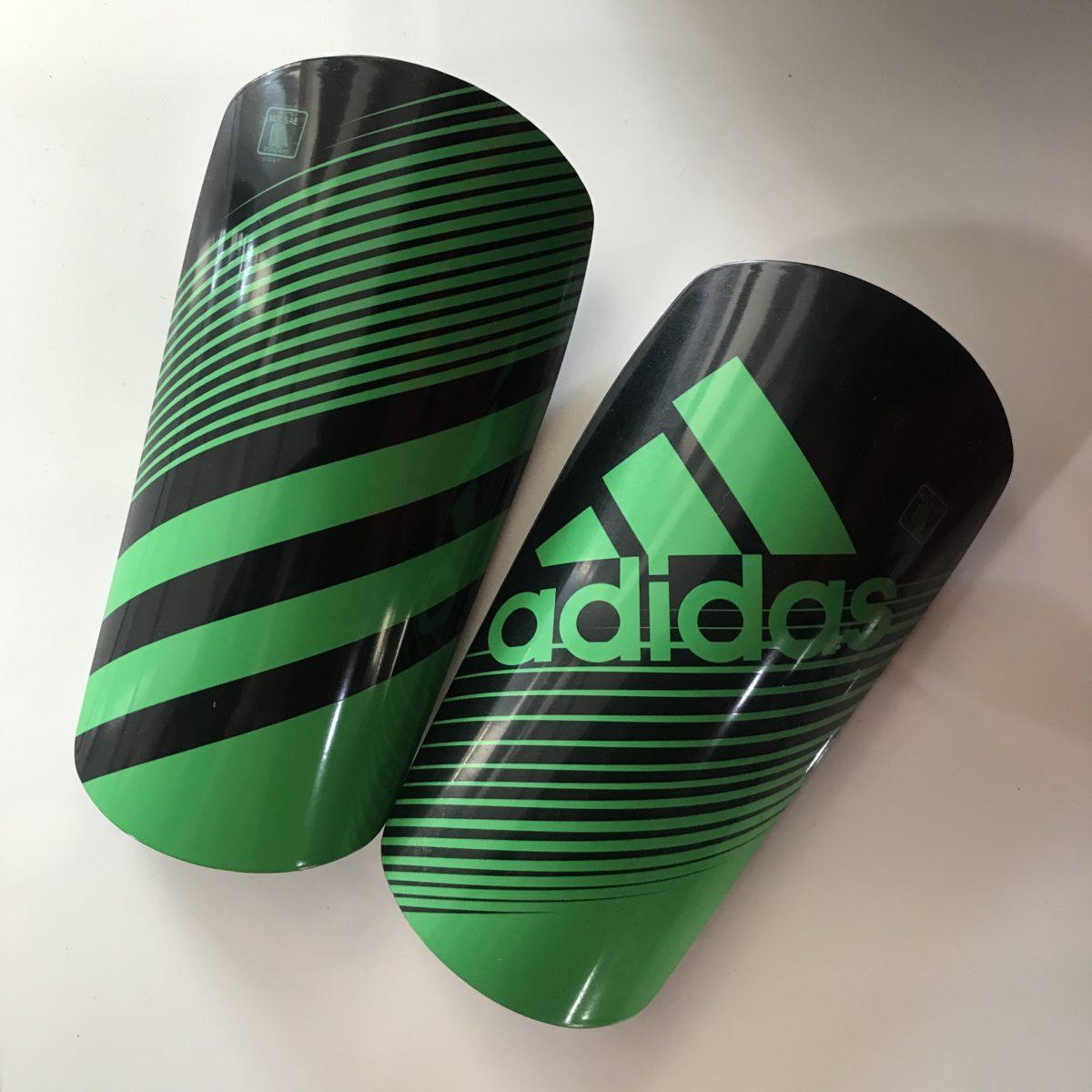 ADIDAS Щитки  Щ002: чёрный/зелёный - 1