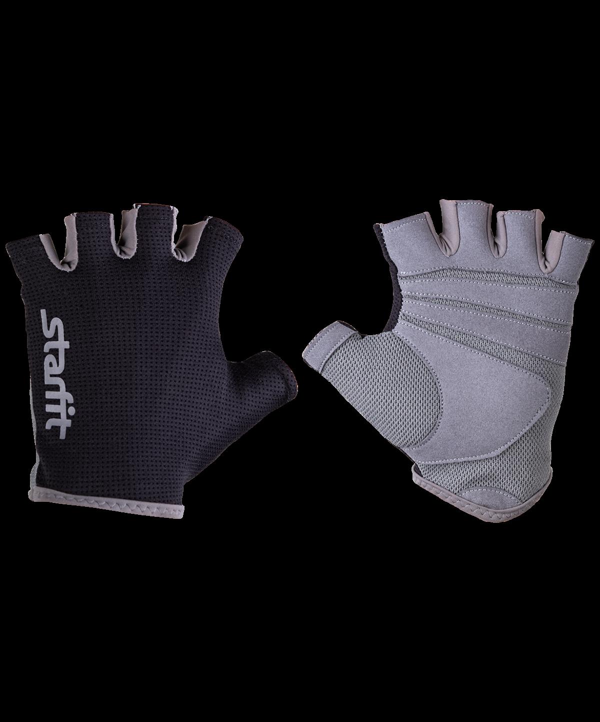 STARFIT Перчатки для фитнеса SU-127 : чёрный/серый - 1