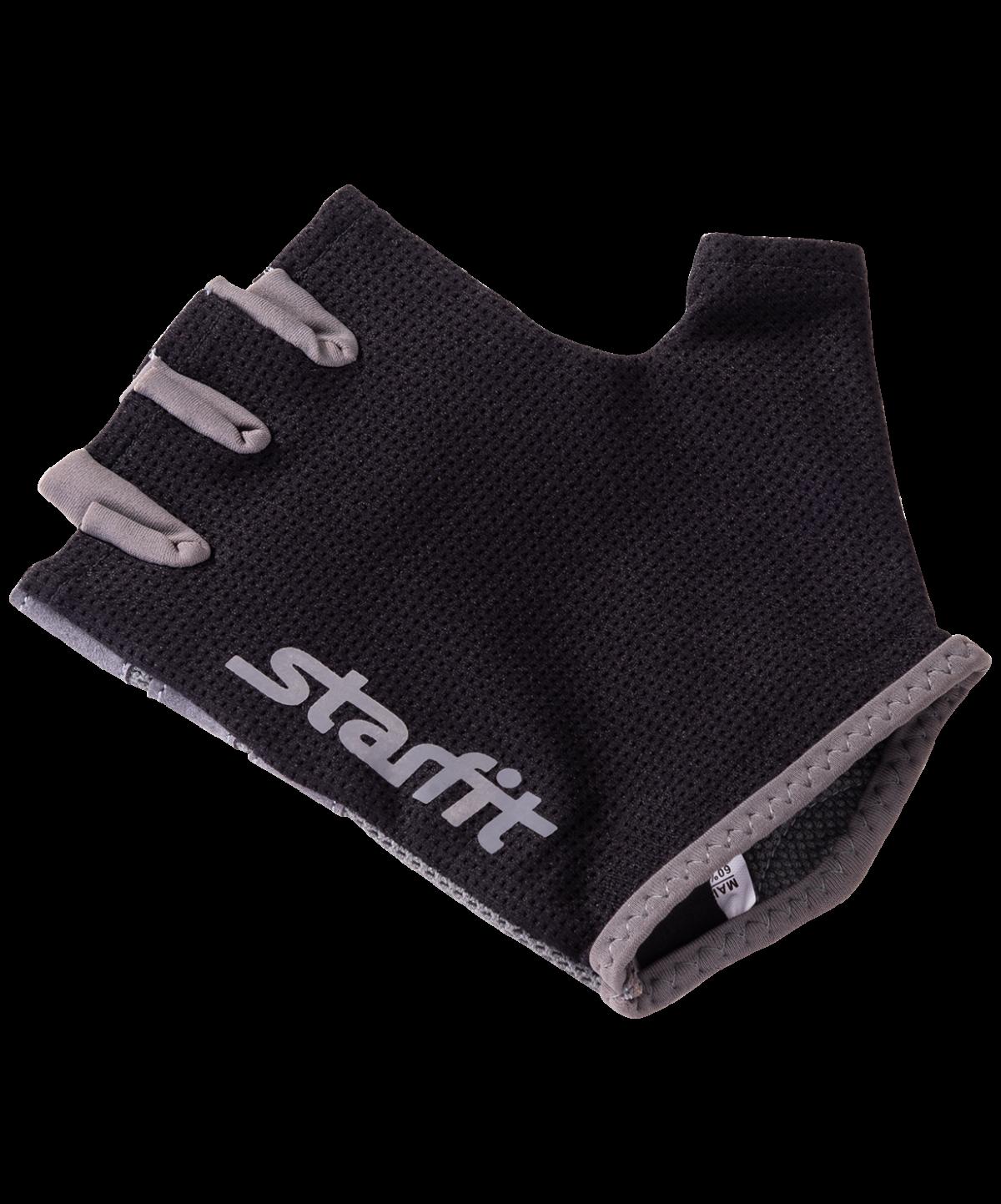STARFIT Перчатки для фитнеса SU-127 : чёрный/серый - 3