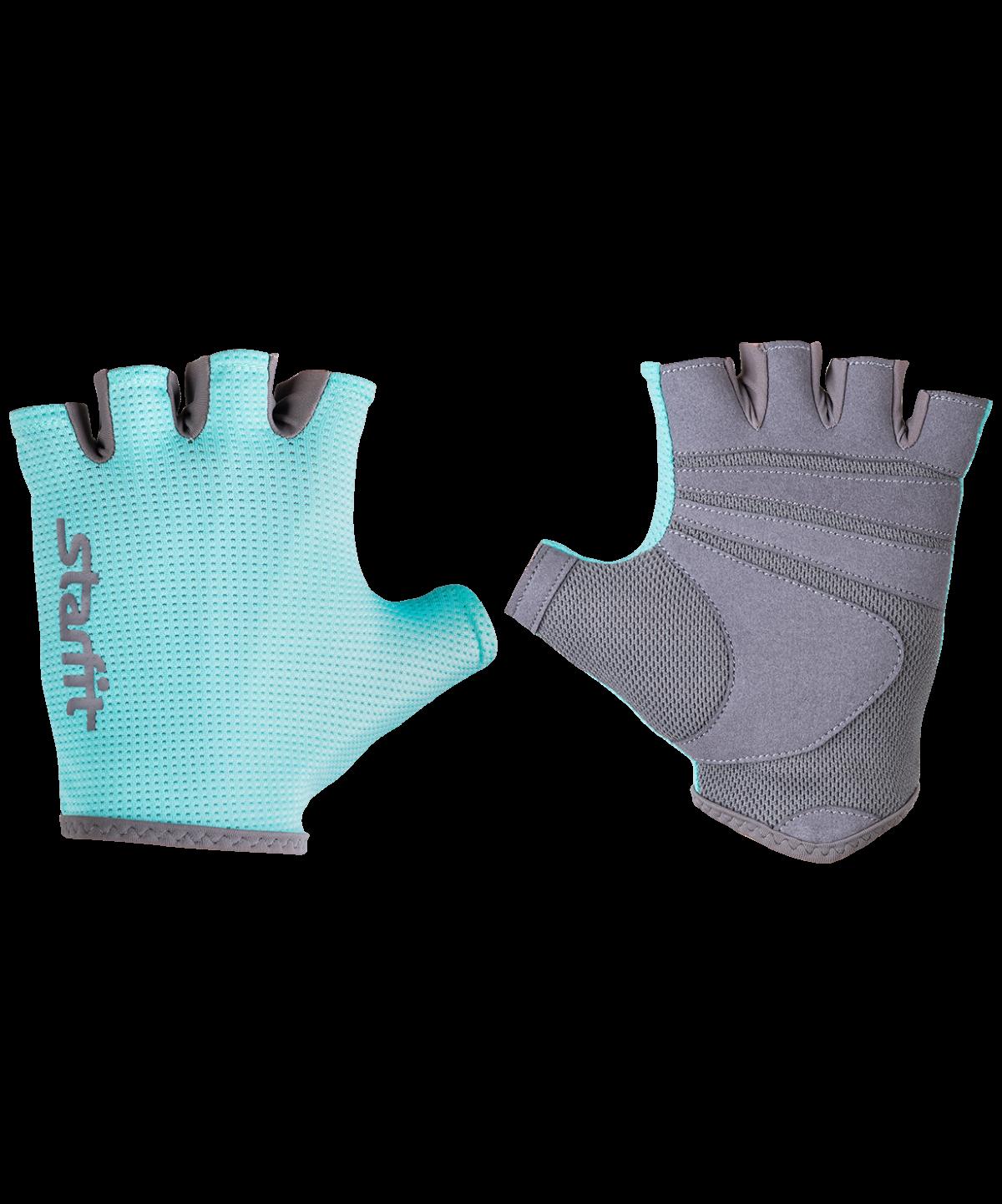 STARFIT Перчатки для фитнеса SU-127 : мятный/серый - 1