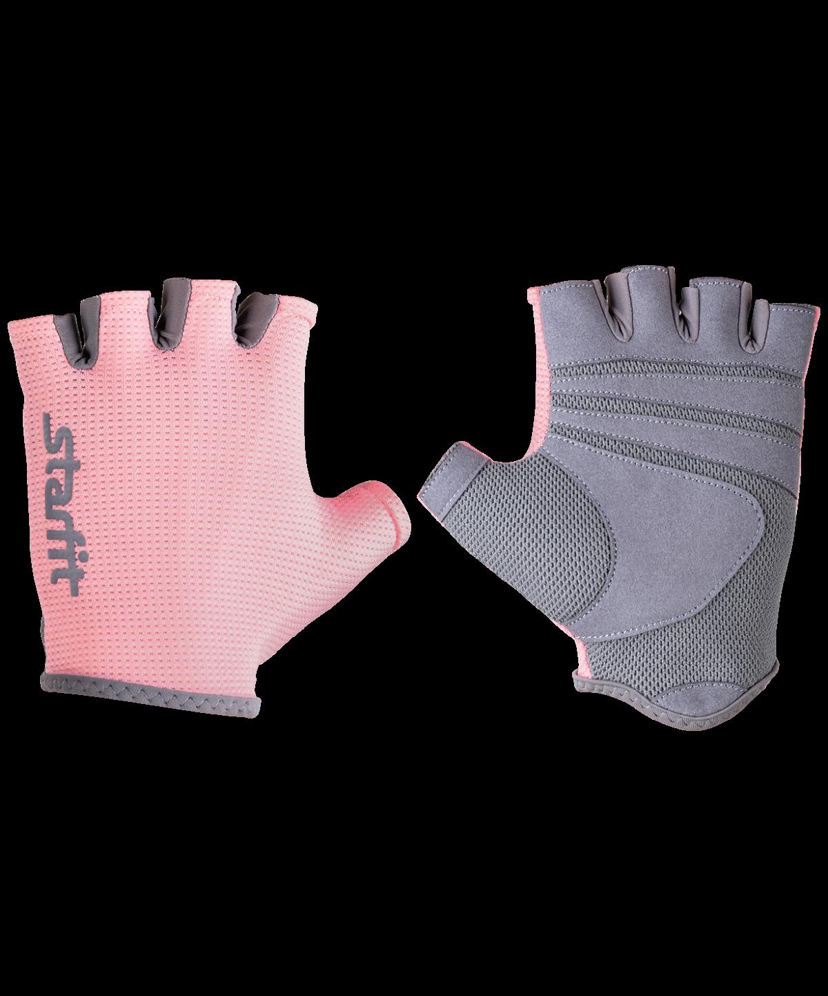 STARFIT Перчатки для фитнеса SU-127 : розовый/серый - 1