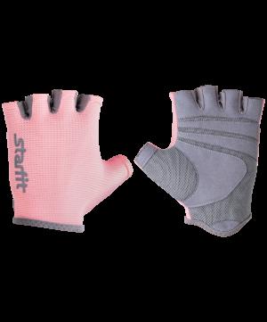 STARFIT Перчатки для фитнеса SU-127 : розовый/серый - 20