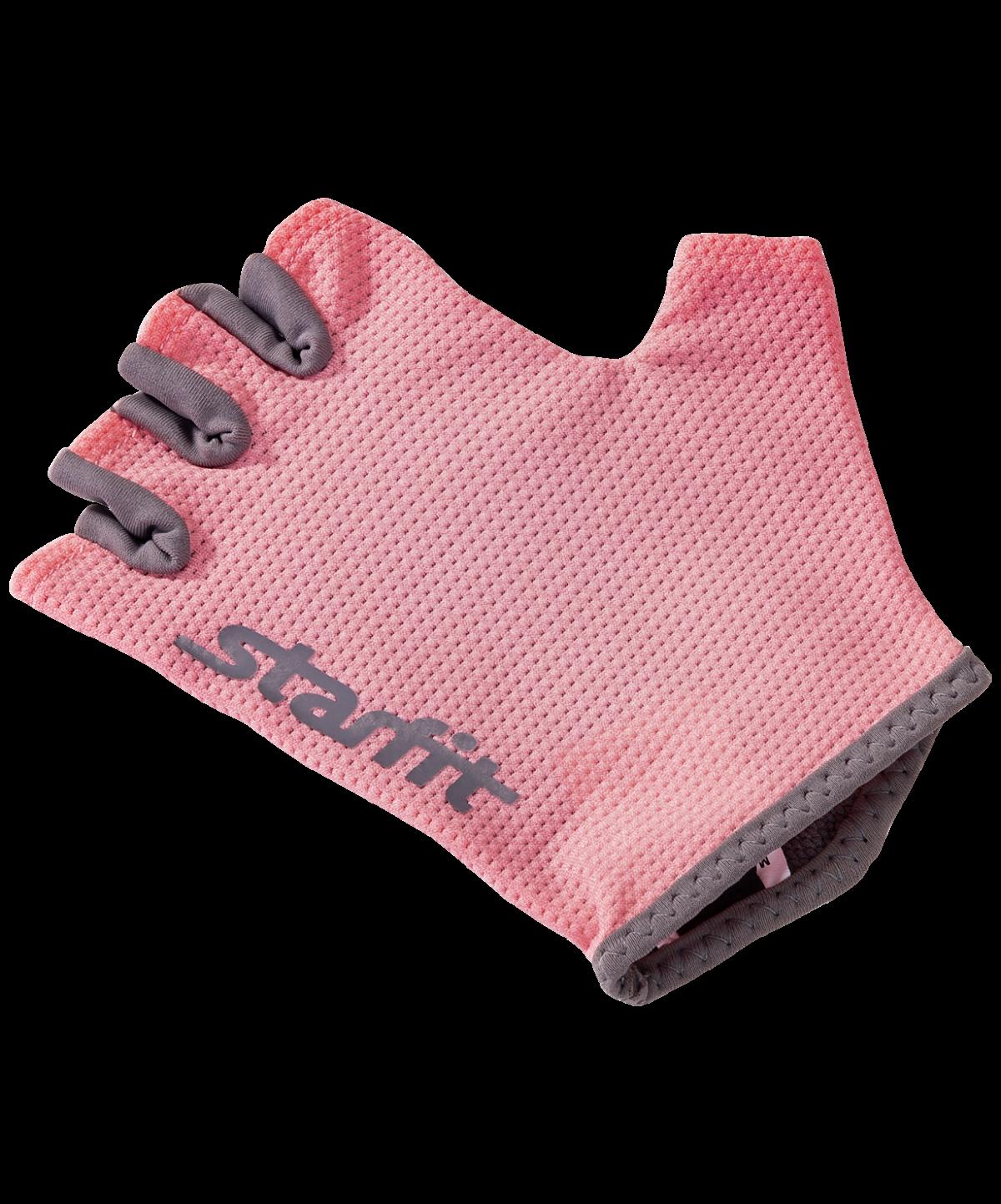 STARFIT Перчатки для фитнеса SU-127 : розовый/серый - 3