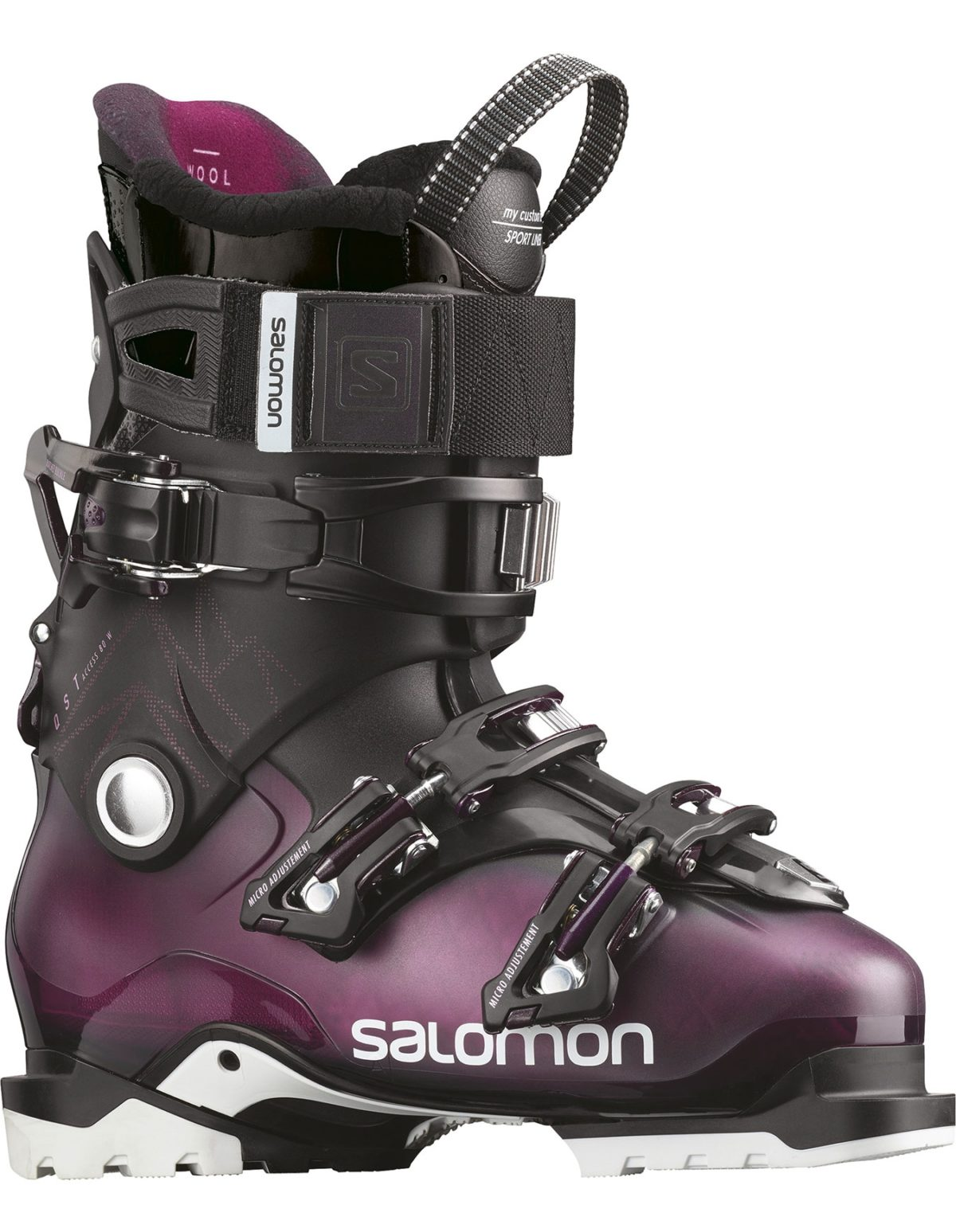 SALOMON QST ACCESS 80 W Pr/JET BLACK Ботинки горнолыжные  L40851800 - 1