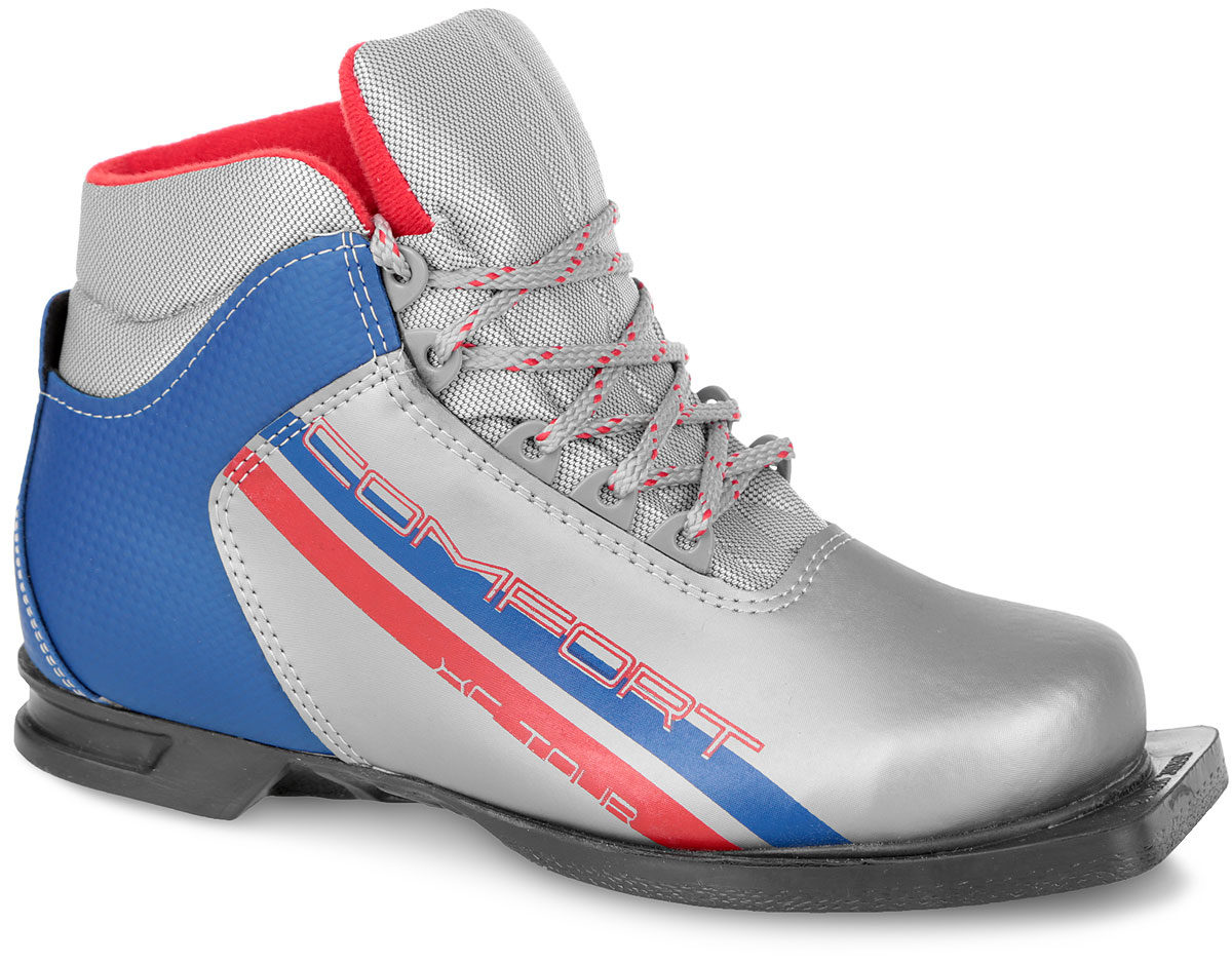 NNN MXN SYSTEM Comfort Ботинки лыжные: серебро/синий - 1