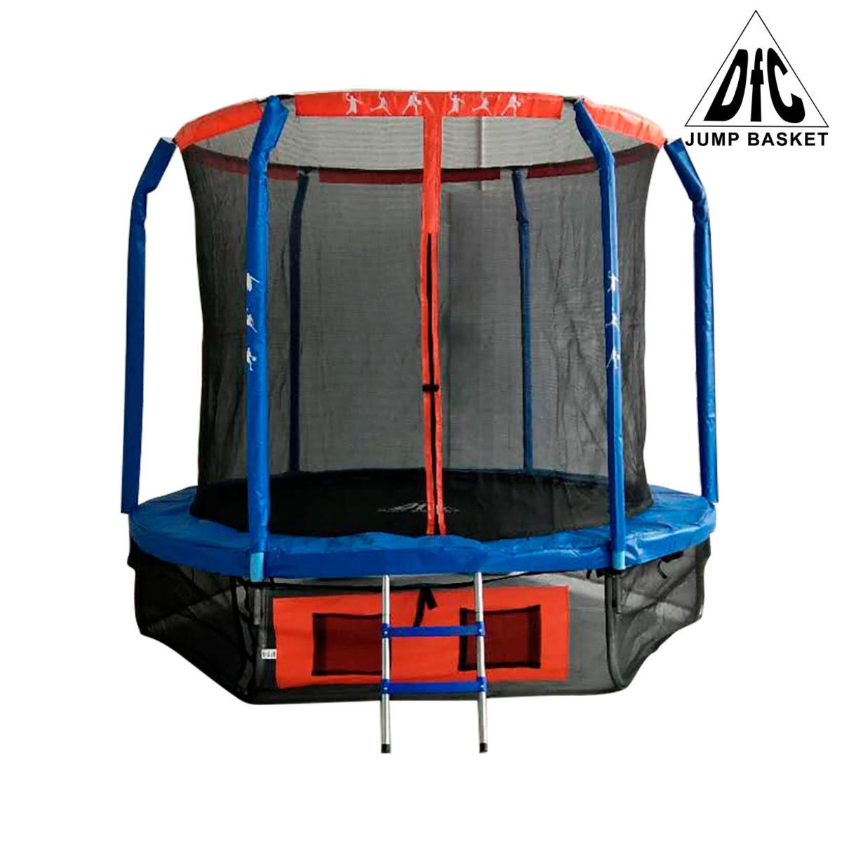 DFC Батут DFC JUMP BASKET с внутр. сеткой, лестница (244 см) - 1